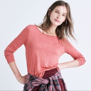 Madewell Anthem Boatneck Tee in Pink